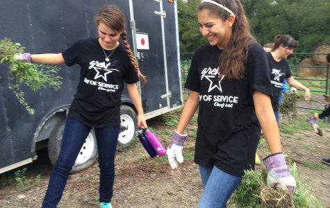 Ann Richards students participate in the Great Day of Service
