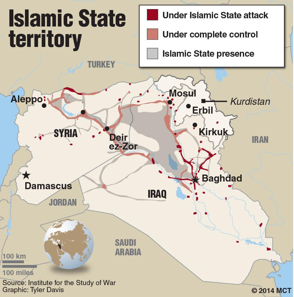 isis in iraq Map of isis controlled areas in iraq the current iraq crisis began in june 2014, the extremist group isis has already seized much of northern iraq, including the major city of mosul, baiji, tikrit, al-qaim, fallujh, etc.