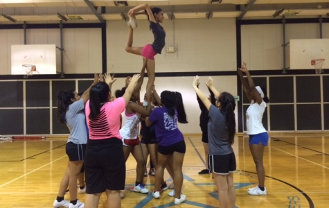 Cheerleading squad learns new stunts for 2015 competition