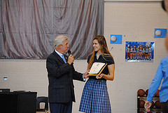 Sofia Hruby, ARS senior, accepts her nomination to the US Naval Academy. She has gone through a rigorous selection process to achieve this honor.
