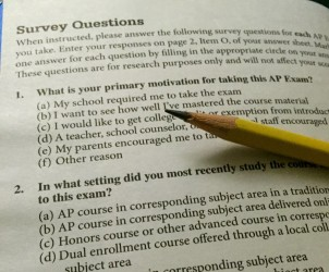 AP Exam survey questions