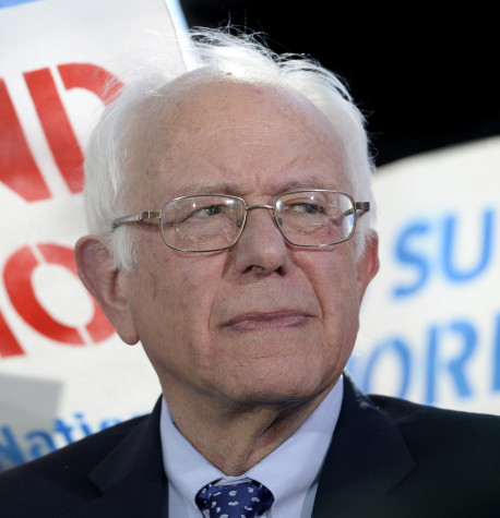 Democratic Presidential hopeful Senator Bernie Sanders speaks about the Workplace Democracy Act on Capitol Hill on Oct. 6, 2015 in Washington, D.C. (Olivier Douliery/Abaca Press/TNS)