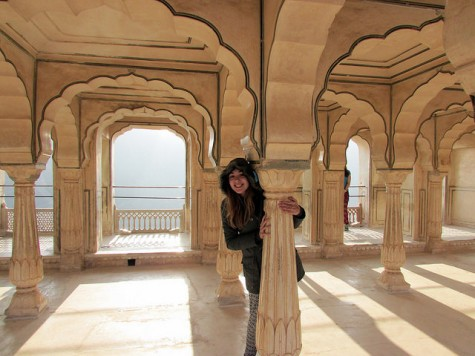 "Me at ""Amber Fort"" in Jaipur, India on a Girl Scout Destination in 10th Grade."