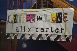 """Sign made by Ms. """"Mayo"""" in the library"""