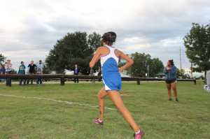 Gema Sanchez leading the varisty race
