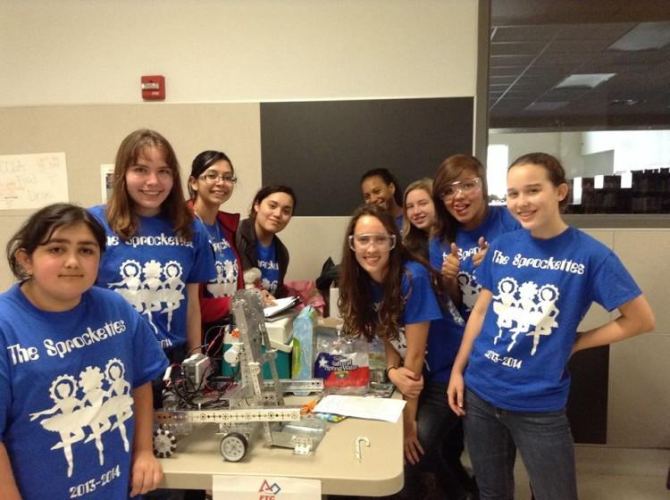 The ARS FTC Robotics team at their first scrimmage
