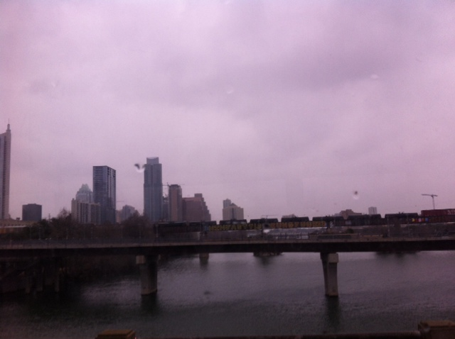 The Austin skyline on a rather blustery day