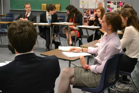 Students participate in Model United Nations this past year, a club where knowledge of geography is essential.