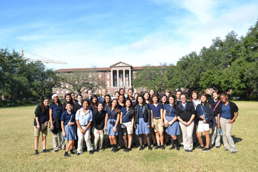 The Class of 2016 toured the Tulane and Loyola campuses last fall