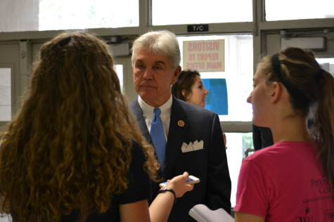Congressman Williams meets with the Polaris Press after the awards assembly.