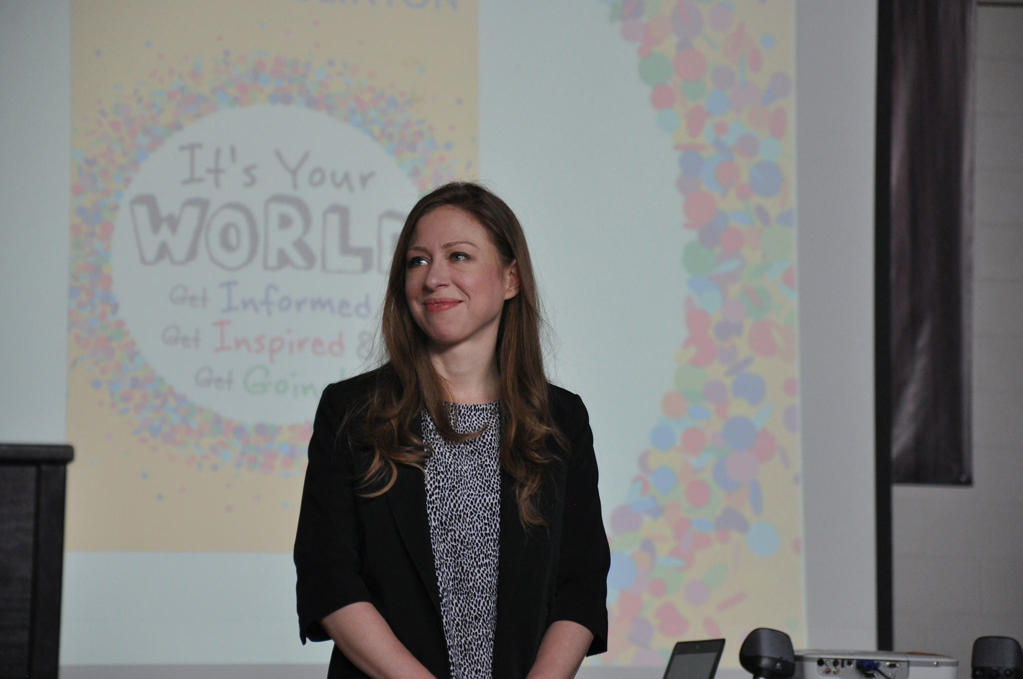 Chelsea Clinton discusses her new book. Photo by Dhivya Bovik