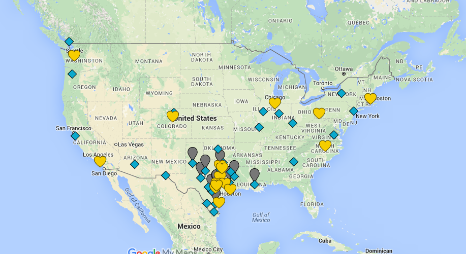 Class of 2016 Interactive College  Map