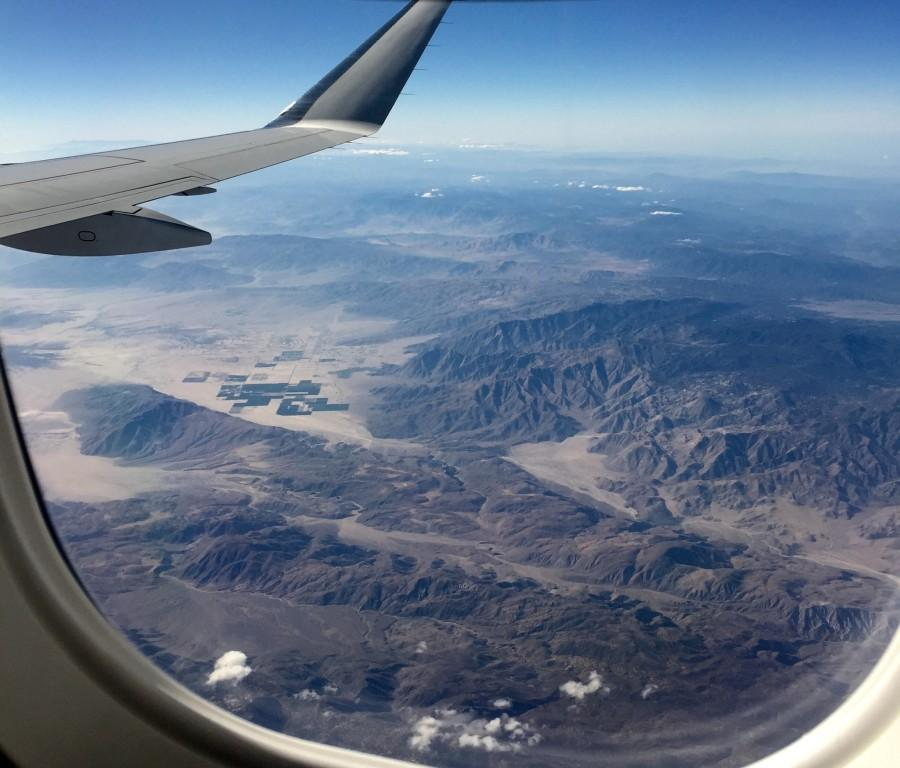 A view from Perla Grimaldo-Remirez's (12) flight to California for a visit to Pomona College.