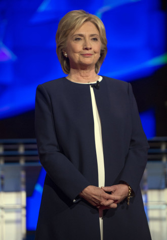 Hillary Clinton on the debate stage on Tuesday, Oct. 13, 2015, in Las Vegas. (Brian Cahn/Zuma Press/TNS)