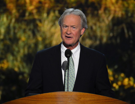 Gov. Lincoln Chafee of Rhode Island speaks at the 2012 Democratic National Convention at the Time Warner Cable Arena in Charlotte, North Carolina, Tuesday, September 4, 2012. (Harry E. Walker/MCT)