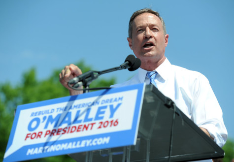 Former Baltimore mayor and Maryland governor Martin O'Malley announces his decision to seek the Democratic nomination for the presidency, at Federal Hill in Baltimore on Saturday, May 30, 2015. (Kim Hairston/Baltimore Sun/TNS)