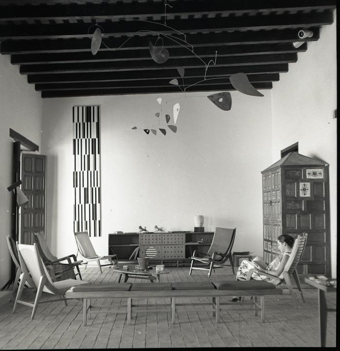 In classic 'moderno' style, this is the living room of Alfredo Boulton's beach house on Margarita Island, Venezuela, designed by Miguel Arroyo, circa 1953. Some of the works pictured here are also shown in the Blanton Museum of Art's exhibit. Photo: The Blanton Museum of Art