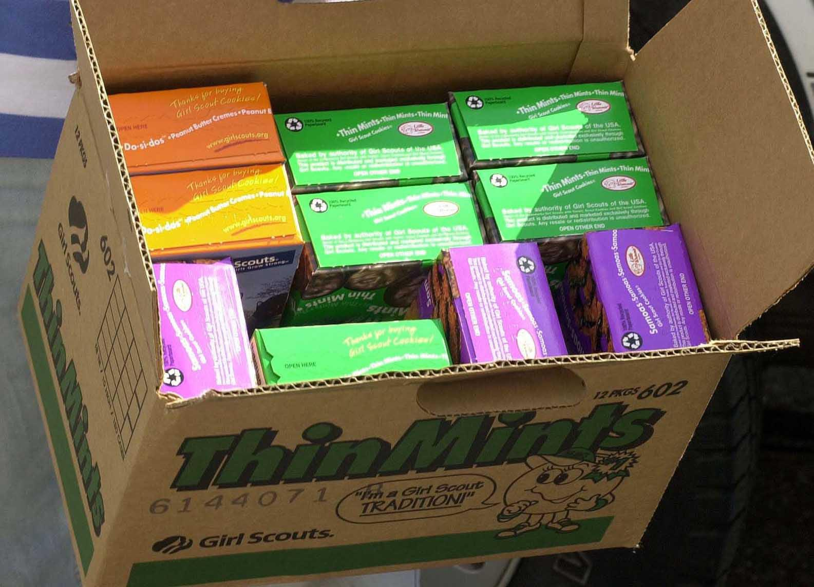 KRT WHAT'S NEXT STORY SLUGGED: TRIVIA KRT PHOTOGRAPH BY JESSICA MANN/ORLANDO SENTINEL (Miami-Out) (March 29) Tis the season for Girl Scout cookies. (jt) 2005