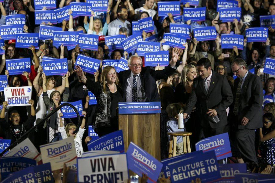Sen.+Bernie+Sanders+arrives+at+his+campaign+rally+in+Santa+Monica%2C+Calif.%2C+on+Tuesday%2C+June+7%2C+2016.+%28Marcus+Yam%2FLos+Angeles+Times%2FTNS%29