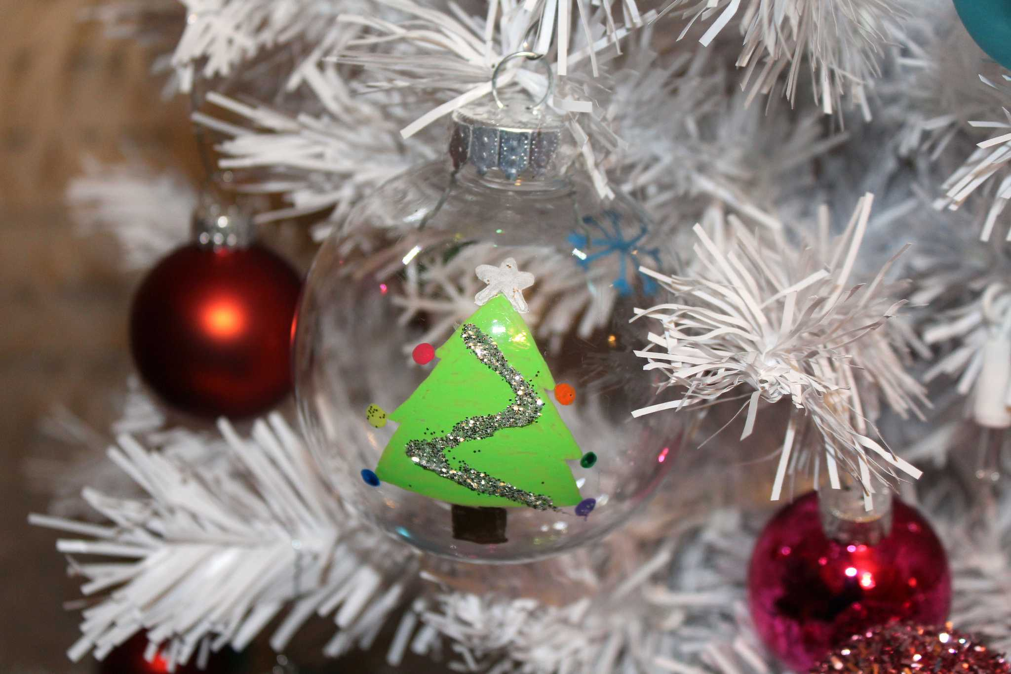 A hand painted ornament. Photo by Ezra Morales.