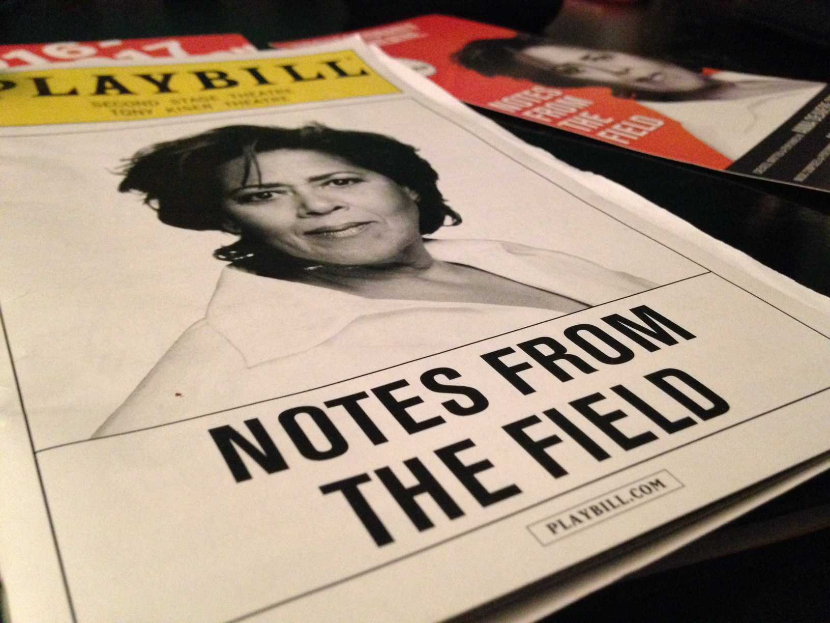 Playbill from the 'Notes From The Field' performance at the 2nd Stage Theater in New York City on December 1, 2016.