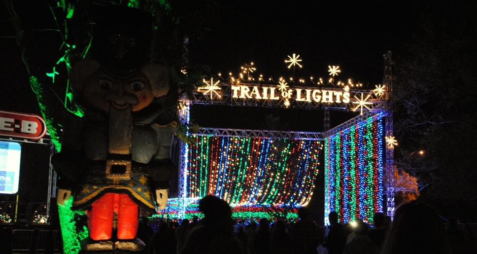 Trail of Lights main entrance. The Trail of Lights grand opening is Saturday December 10th, 2016.  This is the 52nd year the Trail of Lights has  been open. Photo by: Keyla Blanco