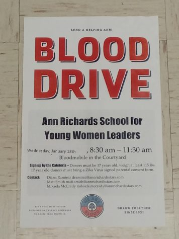 Giving back: 12th grade biomed students organize campus blood drive