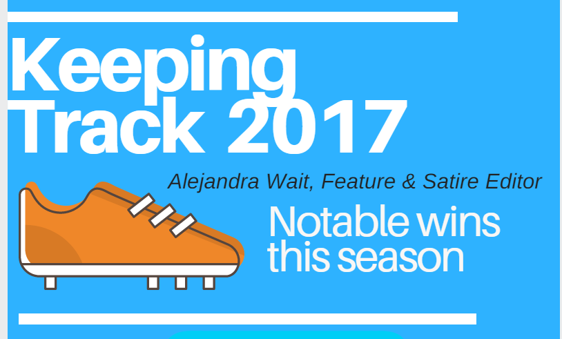 Keeping track: infographic of 2017 placings and personal records
