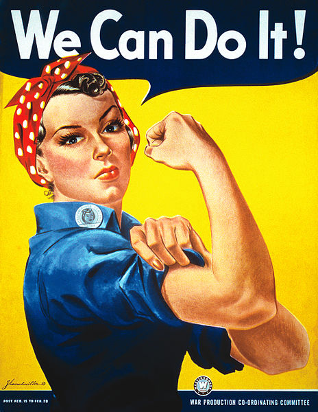 Picture came from https://it.wikipedia.org/wiki/File:We_Can_Do_It!.jpg