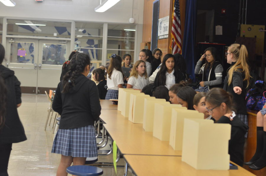 During lunch on Friday, 6th grade students vote for their class president