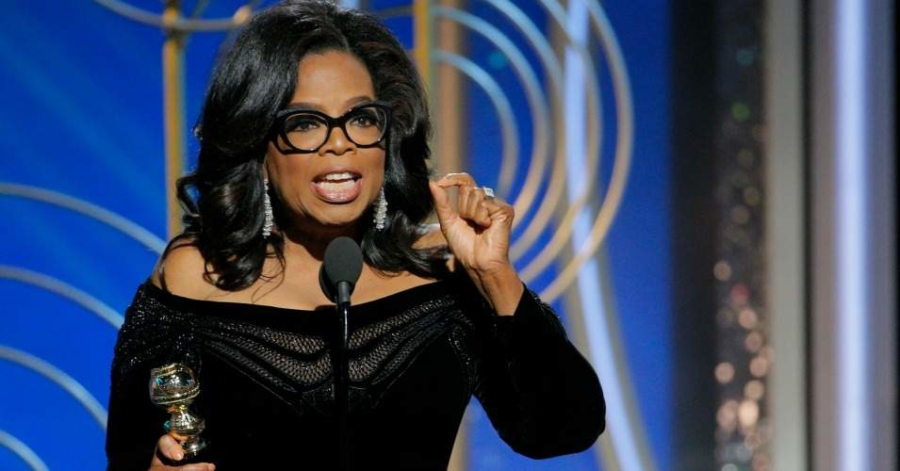 Oprah+gives+speech+after+receiving+Cecil+B.+DeMille+award.